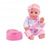 Panenka Bambolina s nočníkem a kojeneckou lahvičkou 33 cm