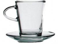 šálek + podšálek 220ml skleněný