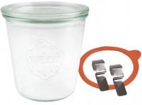 sklenice zavařovací 290ml WECK + víčko, těsnění, 2 spony