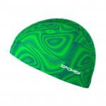 Spokey TRACE Plavecká čepice nylon zelená