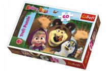 Puzzle Máša a Medvěd 60 dílků 33x22cm