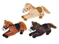 Kůň plyšový 31 cm ležící - mix barev