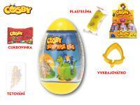 Cosby Surprise egg 12 cm s překvapením - cukrovinka, plastelína a tetovačka - 24 ks - mix variant či barev
