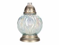 Lampa hřbitovní KOULE PREMIUM skleněná 280g 19x28cm