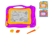 Magnetická kreslicí tabulka 33x26 cm - mix barev