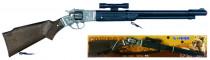 Puška kovbojská s dalekohledem kovová - 8 ran