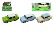 Auto Welly Trabant 1:60 kov 7cm mix barev volný chod - mix variant či barev
