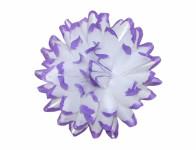 Květ voskový JIŘINA DEKOR bílo fialový 13cm