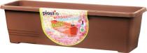 Plastia truhlík samozavlažovací Bergamot - čokoládový 80 cm