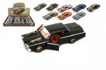 Auto veterán s kulometem kov/plast 13cm mix barev na zpětné natažení - mix variant či barev