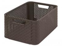 box úložný RATTAN 39x29x17cm (M), STYLE2, plastový, HN