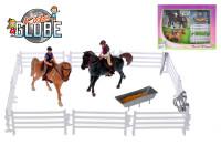 Koníci s jezdci 13 cm 2 ks s doplňky