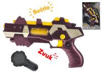 Pistole vesmírná 28 cm na baterie se světlem a zvukem