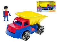 Auto nákladní sklápěčka s panáčkem