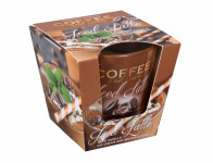 Svíčka ve skle COFFEE SPICES-LATTE vonná 115g