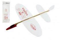 Letadlo Vážka házecí model polystyren/dřevo 39x31cm