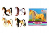 Kůň česací malý plast 10cm - mix barev