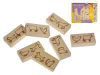 Domino dřevěné zvířátka 12 ks