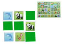 Pexeso ZOO 64 karet ilustrovaná zvířátka