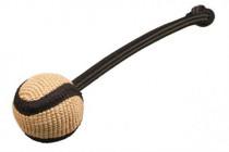 Pešek tréninkový jutový míček s poutkem B&F 7 cm