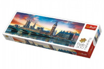 Puzzle Big Ben a Westminsterský palác, Londýn panorama 500 dílků 66x23,7cm