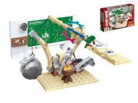 EDUKIE stavebnice Angry Birds technické středisko 100 ks + 1 figurka