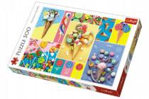Puzzle Oblíbené sladkosti 500 dílků 48x34cm