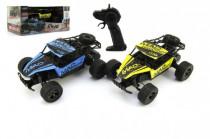 Auto RC Buggy plast/kov 20cm s adaptérem na baterie - mix barev