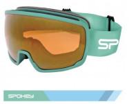 Spokey GRAYS lyžařské brýle šedo-zelené