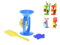 Sada na písek 3 ks - mlýnek, lopatka, formička - mix barev