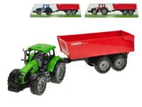 Traktor s vlečkou 1:32 42 cm na setrvačník - mix barev
