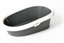 WC s okrajem - Excalibur Duvo+ antracit 43 x 31 x 14 cm