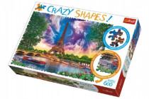 Puzzle Nebe nad Paříží 600 dílků Crazy Shapes 68x48cm