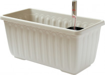 Plastia truhlík samozavlažovací Siesta LUX - slonová kost 40 cm