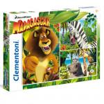 Puzzle Supercolor Madagascar 3x48 dílků