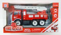 Auto kamion hasiči šroubovací plast 25cm na setrvačník