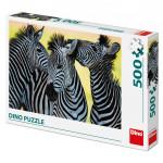 Puzzle 500 dílků: Tři zebry