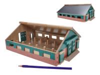 Farma dřevěná 21x30x11 cm 1:87