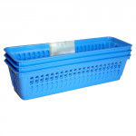košík úzký 26x8x6cm plastový (3ks) - mix barev