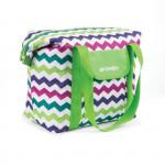 Spokey SAN REMO Plážová termo taška zelená zigzag, 52 x 20 x 40 cm
