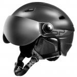 Spokey JASPER lyžařská přilba s čelním sklem, černá, vel. S/M
