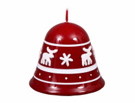 Svíčka SOBÍCI ZVONEK vánoční lakovaná d9x8cm