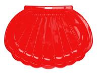 Pískoviště/bazén ve tvaru mušle 108x78x18 cm červené