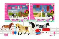 Kůň 11cm 2ks s doplňky + ohrada ranč - mix variant či barev