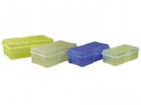 box s klick uzávěrem 25x13x 8cm (1,9l) plastový - mix barev