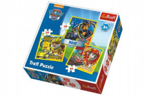 Puzzle 3v1 Marshall, Rubble a Chase Paw Patrol 20x19,5cm