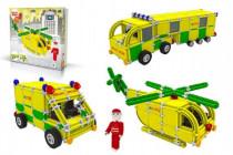 Stavebnice Seva Rescue 3 Záchranáři plast