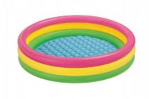 Bazén nafukovací dno duhový 147x33cm