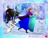 Puzzle deskové Frozen: Na bruslích 40 dílků
