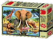 Puzzle 3D 500 dílků, oceán, džungle, zvířecí párty
